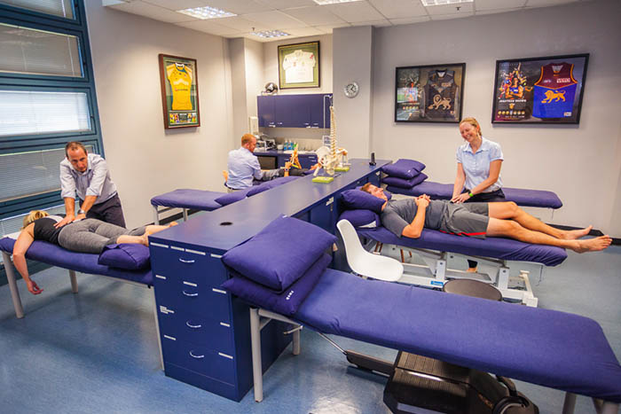Treatment being administered at a Brisbane based physiotherapy clinic